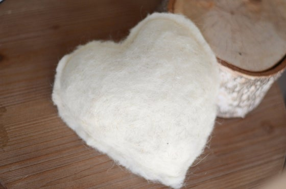 Image of Hand felted heart pillow