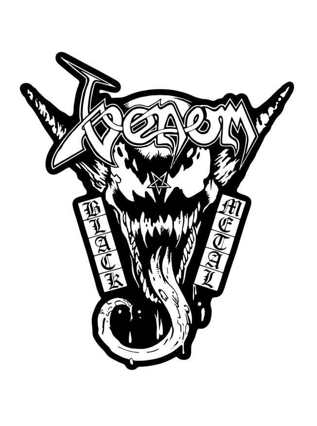 Image of Style Over Substance Dark Presents: Venom on Venom: Black Metal by DeathStyle Art (Pin Only)