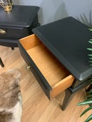Image 3 of A pair of black stag side tables