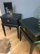 Image 4 of A pair of black stag side tables