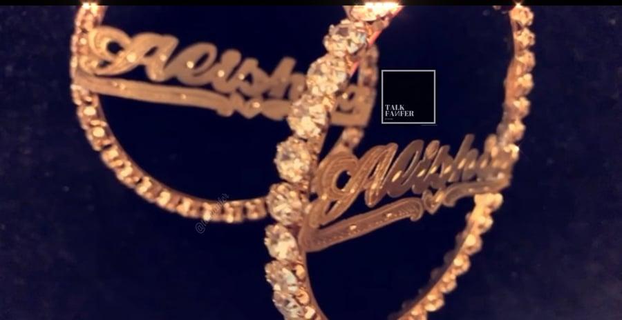 """Image of """"Flashy"""" Diamond Hoops"""