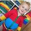 Children's Patchwork Zip Up Corduroy Bomber Jacket