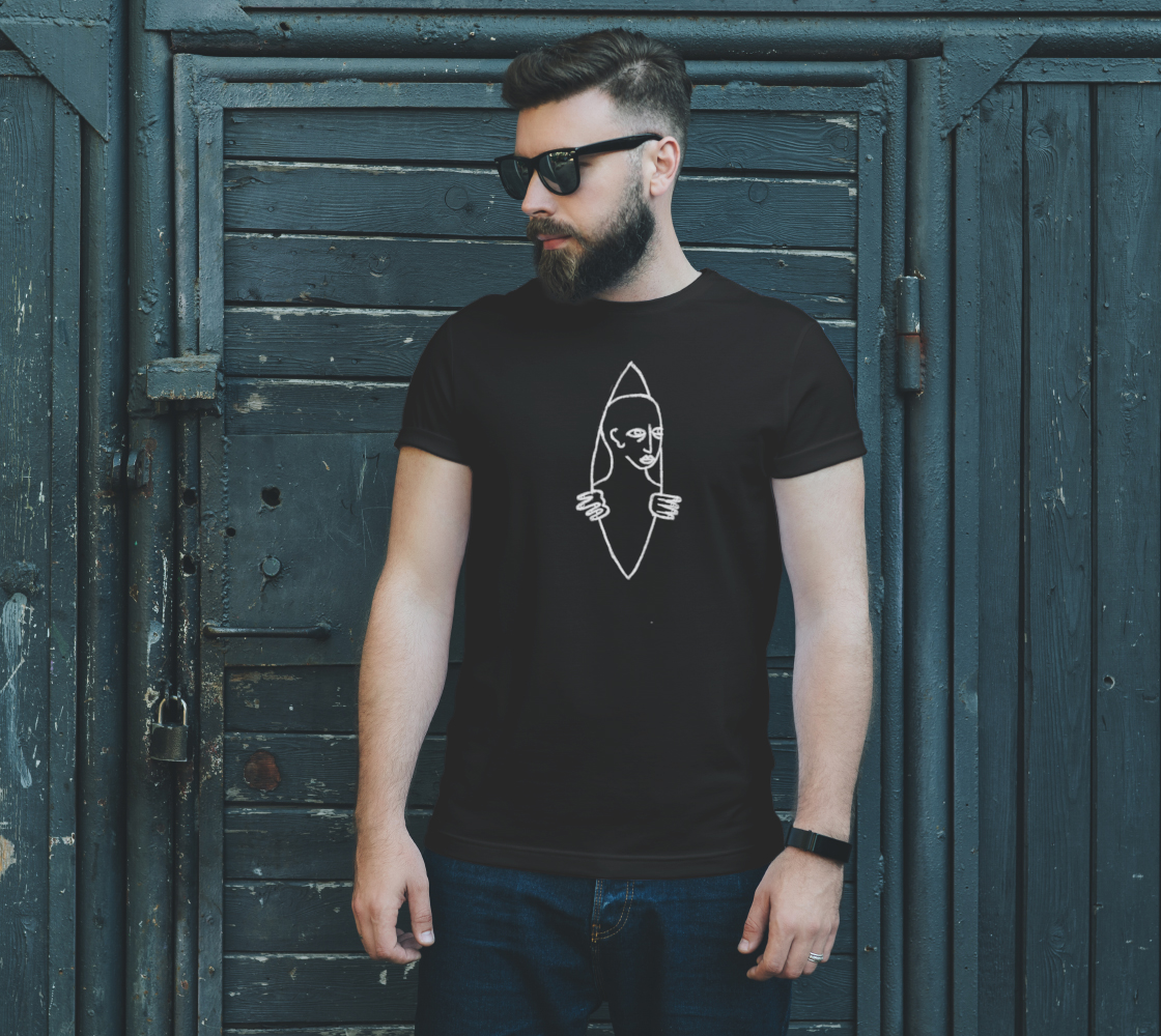 Image of Peeking out of the Pod Unisex Tee