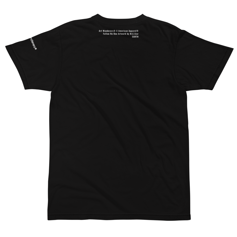 Image of Art Wanderers® X American Apparel® - Follow No One Artwork - T-Shirt - Black
