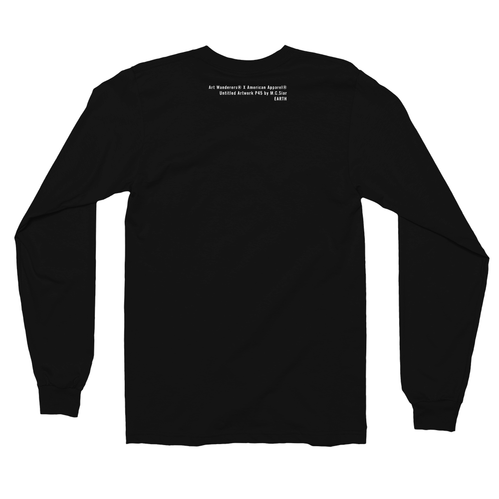 Image of Art Wanderers® X American Apparel® - Untitled Artwork P45 - Long Sleeve T-Shirt - Black