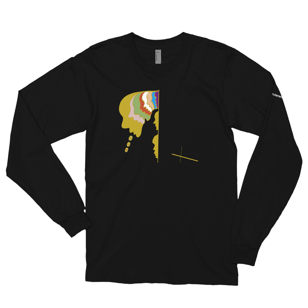 Image of Art Wanderers® X American Apparel - Untitled Artwork P17 - Long Sleeve T-Shirt - Black