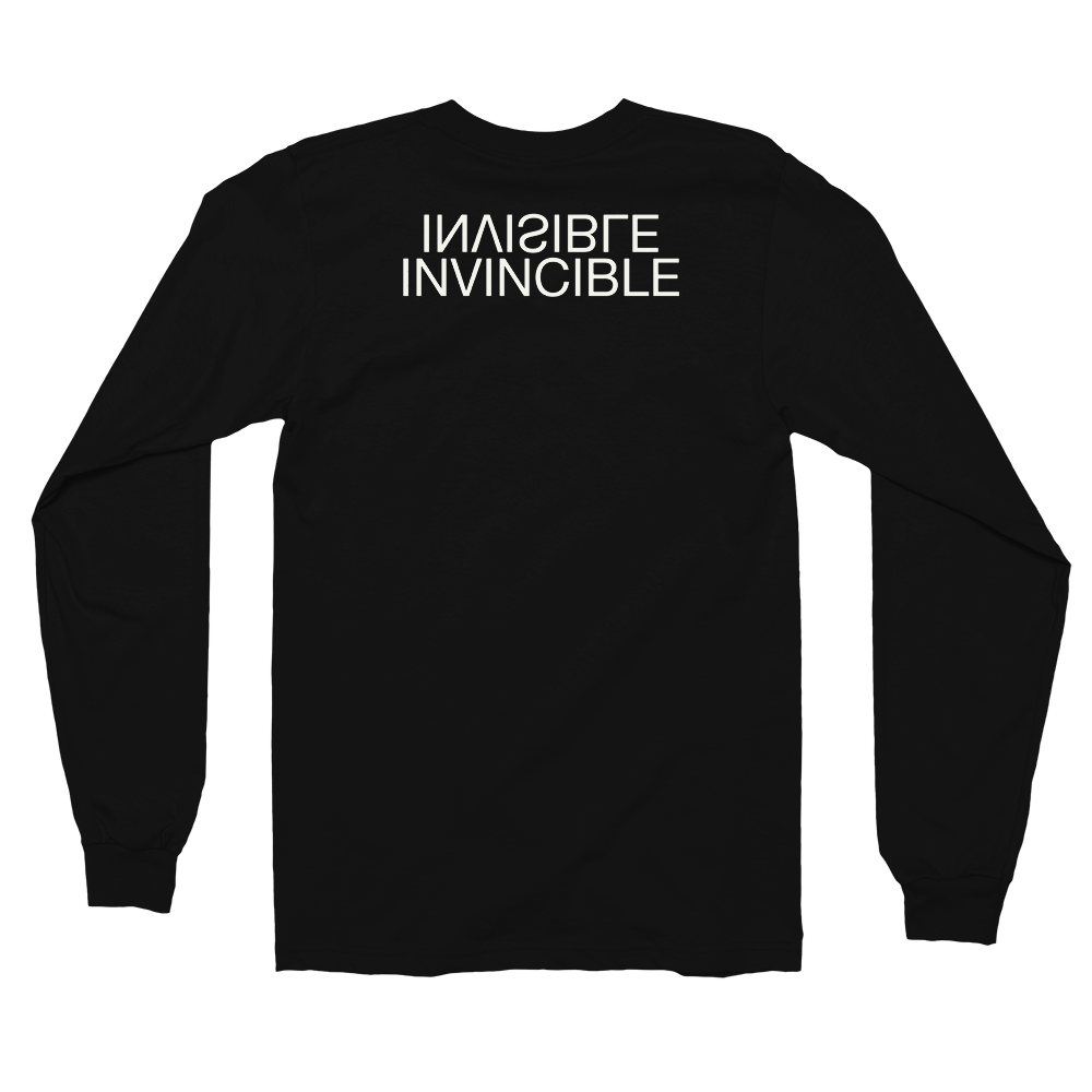Image of Art Wanderers® X American Apparel® - Invisible/invincible - Long Sleeve T-Shirt - Black
