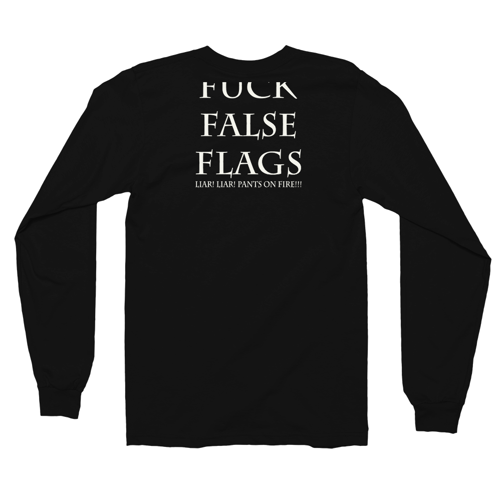 Image of Art Wanderers® X American Apparel® - Fuck False Flag Artwork - Long Sleeve T-Shirt - Black