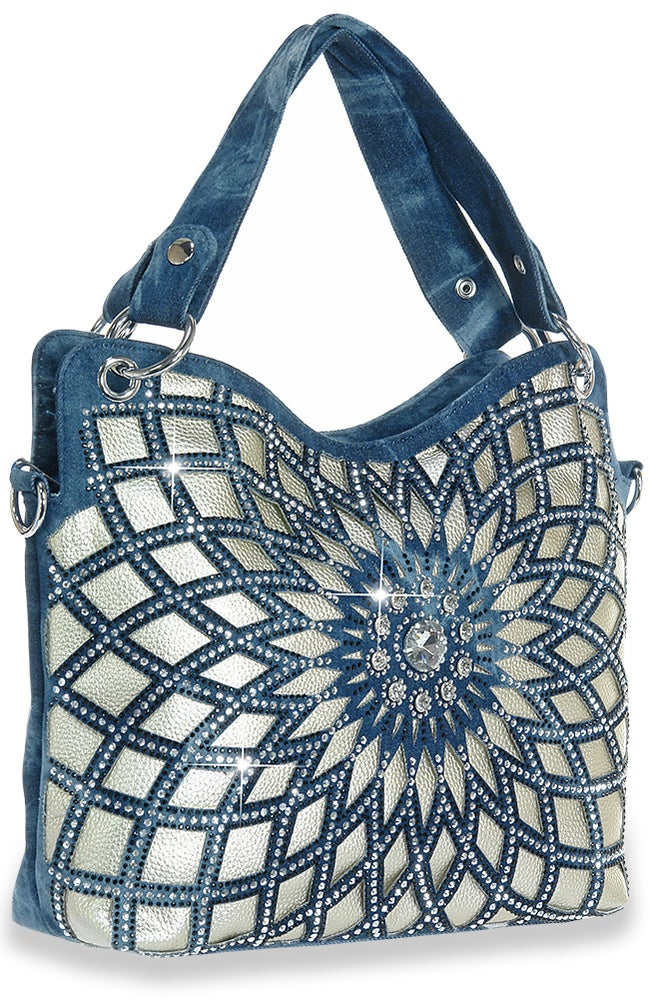 Image of Sparkling Denim Purse