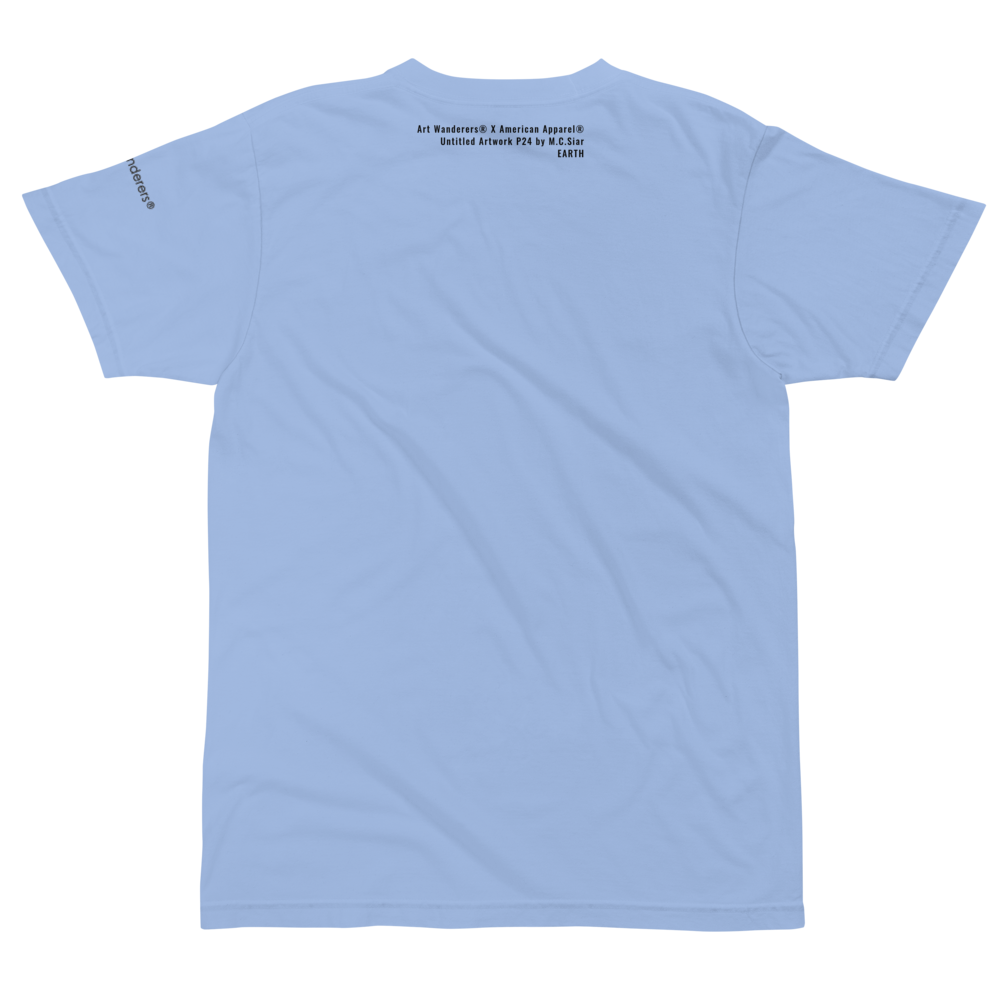 Image of Art Wanderers® X American Apparel® - Untitled Artwork P24 - T-Shirt - Baby Blue