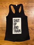 Image of Women's ShutUpandTrain Block Tank Black/white
