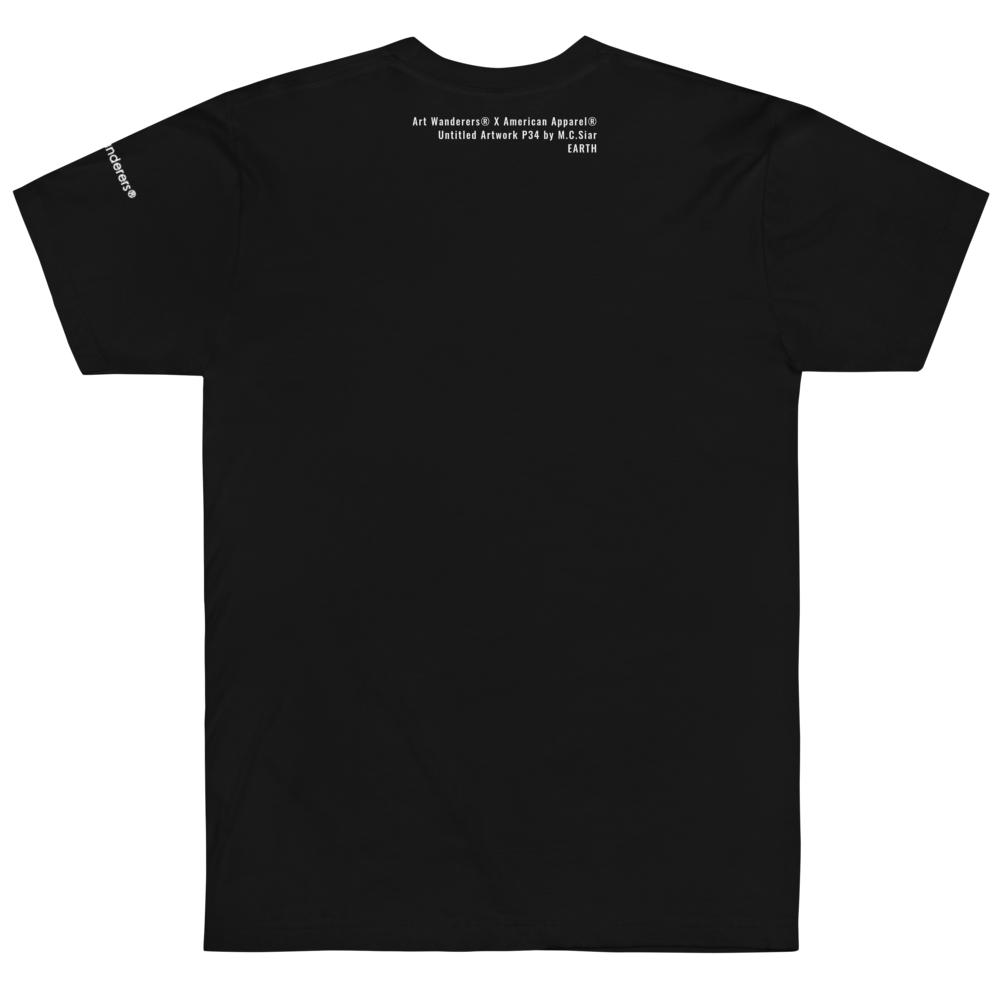 Image of Art Wanderers® X American Apparel® - Untitled Artwork P34 - T-Shirt- Black