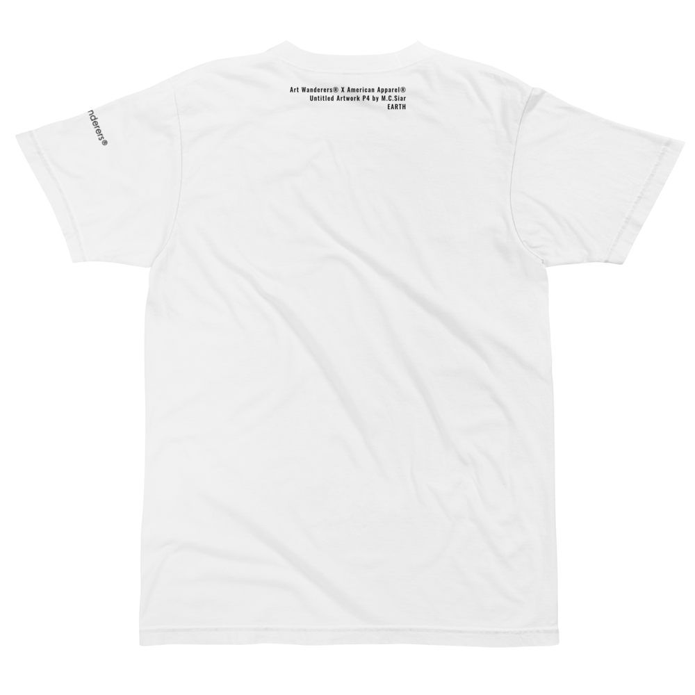 Image of Art Wanderers® X American Apparel® - Untitled Artwork P4 - T-Shirt - White