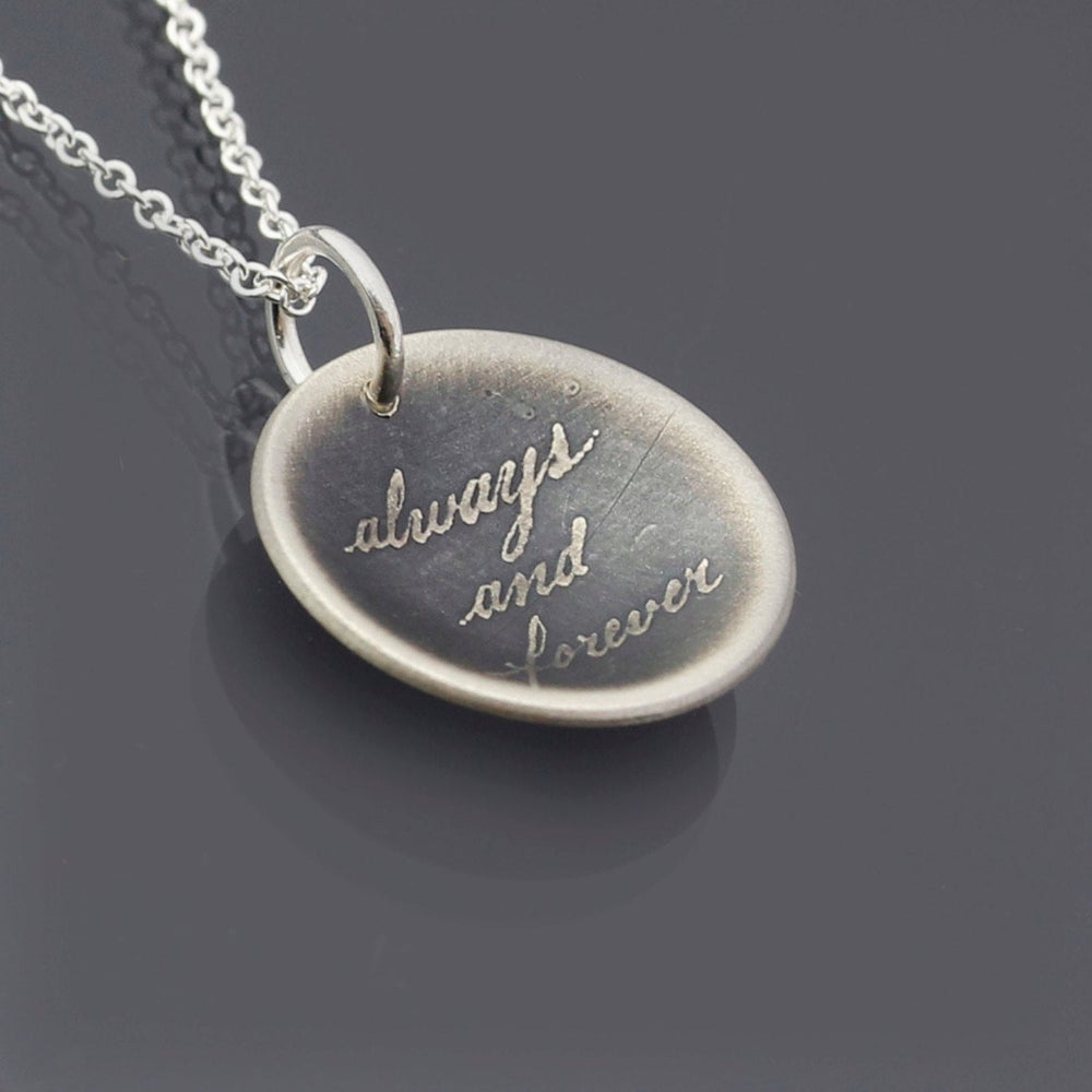 Image of Sterling Silver Always and Forever Necklace