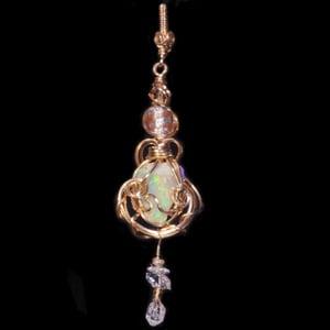 Image of Welo Ethiopian Opal Handmade Gold Filled Pendant