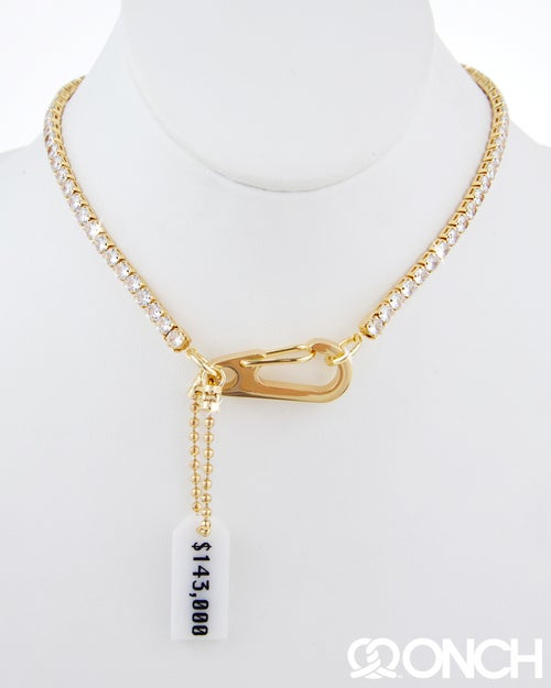 Image of 143K Dollars Tennis Necklace (18K Gold Plated)