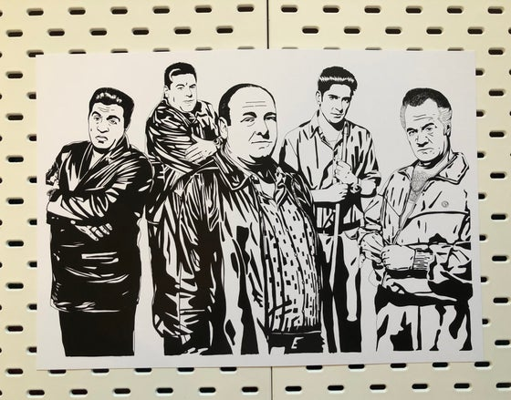 Image of The Sopranos A3 sized print.