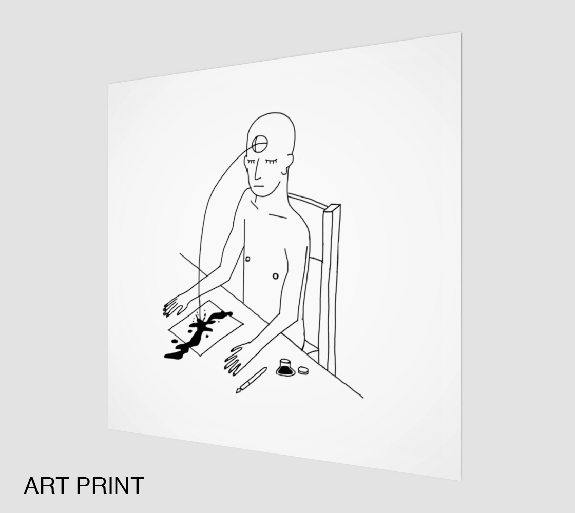 Image of don't move a muscle print