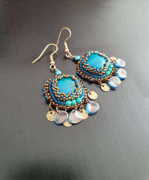 Image of Boucles d'oreilles SO CUTE chrysocolle
