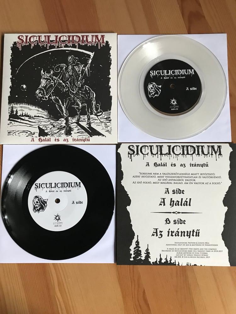 """Image of SICULICIDIUM – A halál és az iránytű 7"""" EP 2019 (clear & black)"""