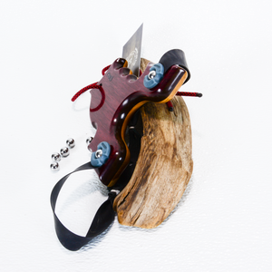 Image of Sling Shot, The Renegade, Purple Heart Exotic Wood and Ash, Walnut Wood Core, Wooden Catapult