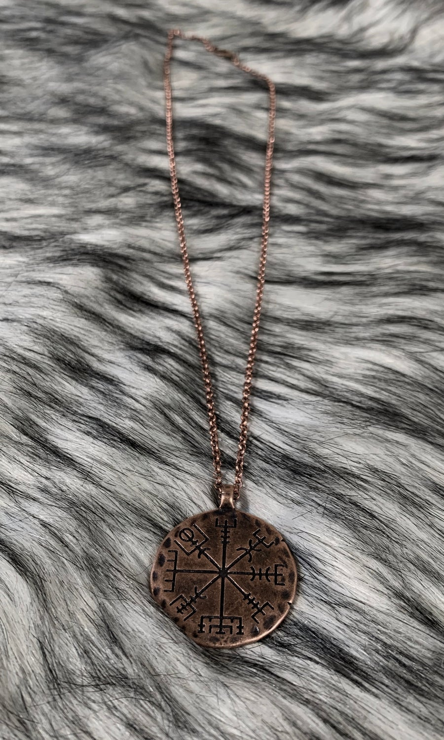 Image of VEGVISIR COPPER NECKLACE