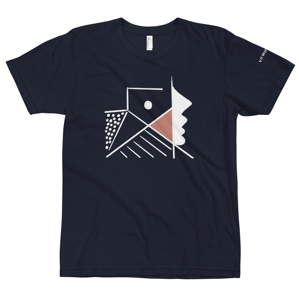 Image of Art Wanderers® X American Apparel® - Untitled Artwork P34 - T-Shirt - Navy