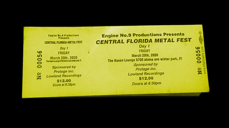 Image of Central Florida Metal Fest DAY ONE Ticket