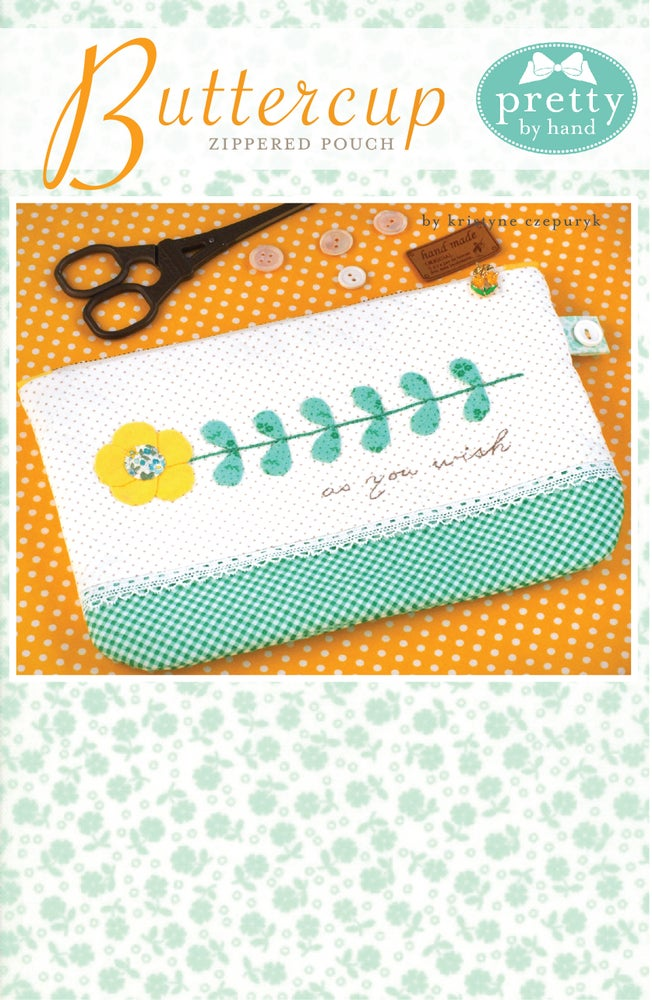 Image of Buttercup Zippered Pouch - PDF Only