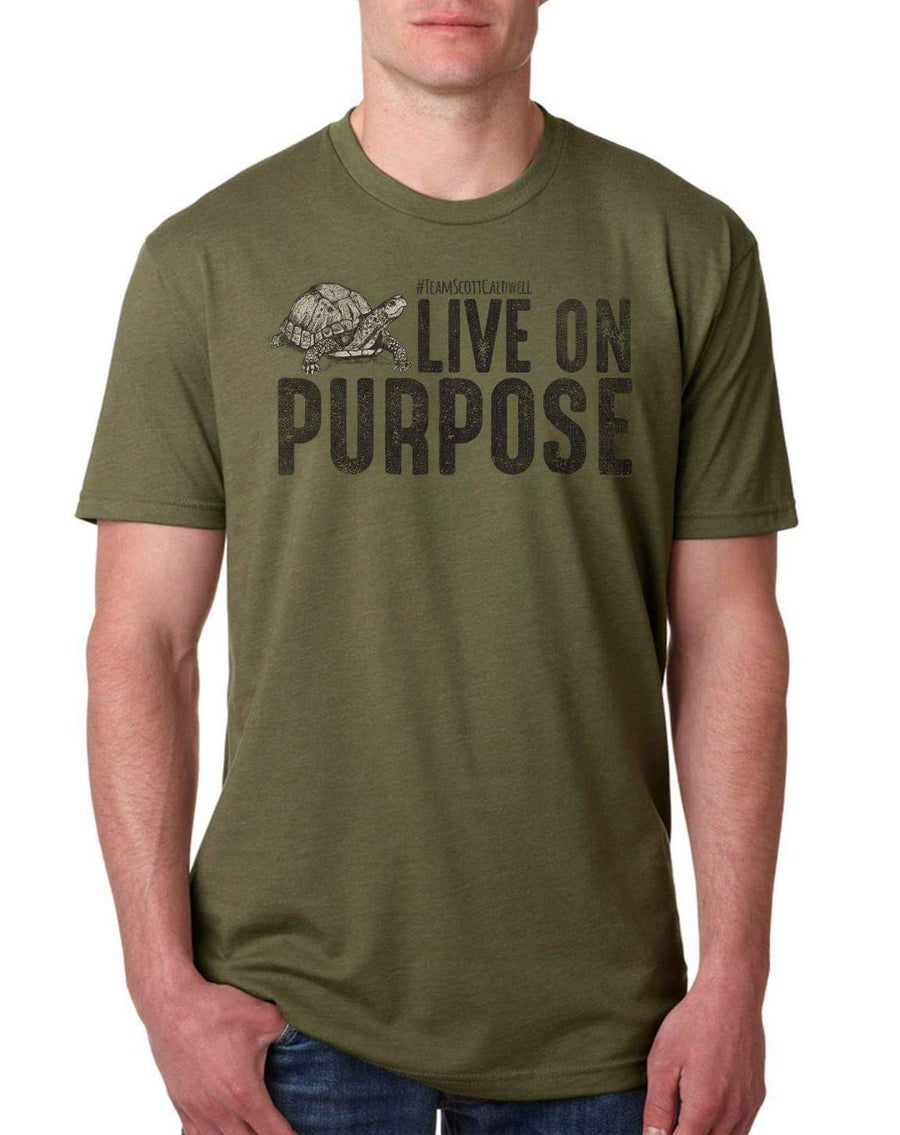 Image of Adult Live On Purpose Turtle Tee