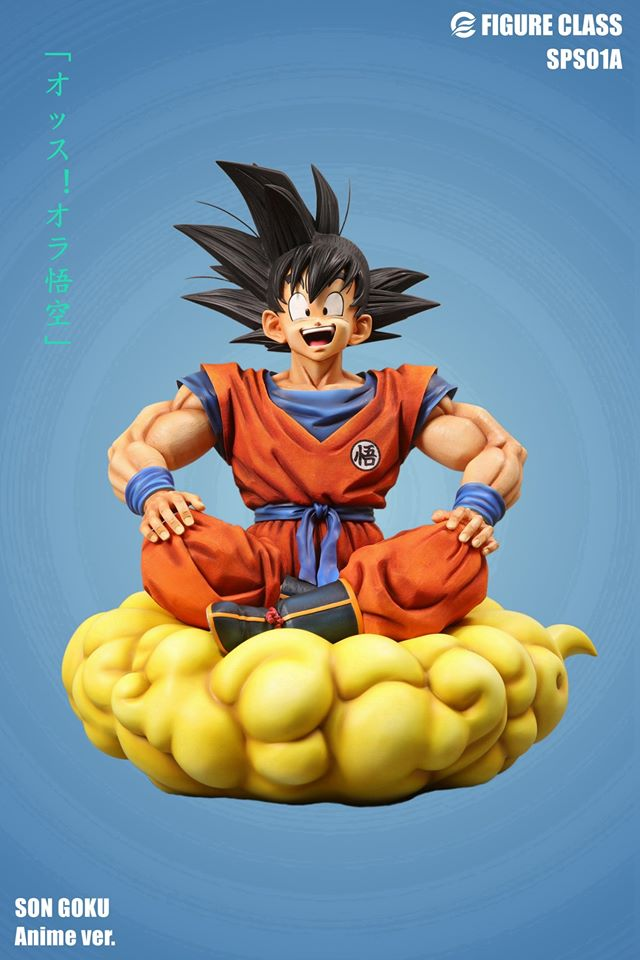 Image of Figure Class Goku sitting on Nimbus 1/3 Anime Version