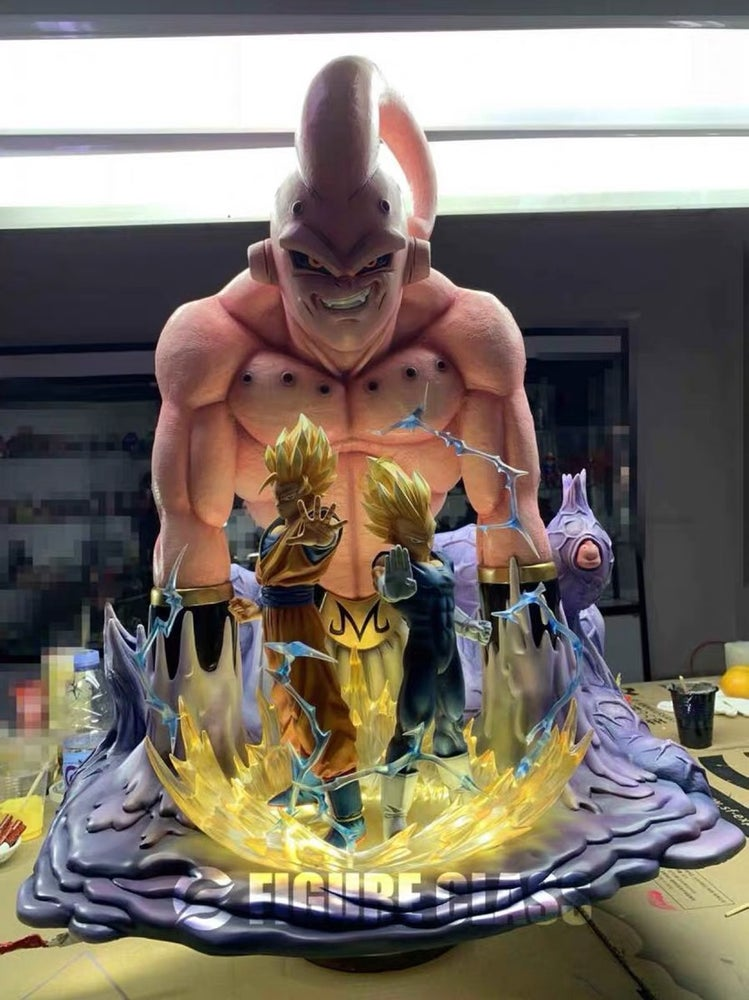 Image of Figure Class Goku Vegeta vs. Super Buu + Extra Gohan Diorama 1/6