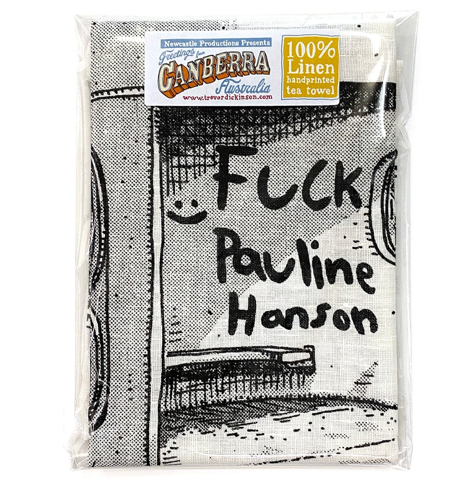 Image of Pauline Bus Shelter Tea Towel