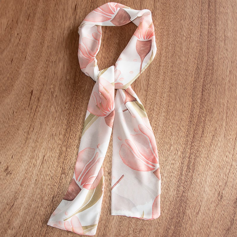 Image of Australian Made Tie Scarf - Pink Gum Blossom