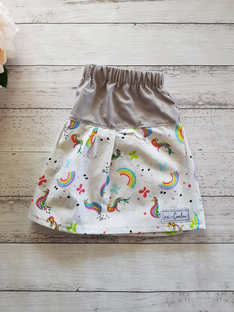 Image of ELISE SKIRT - UNICORNS