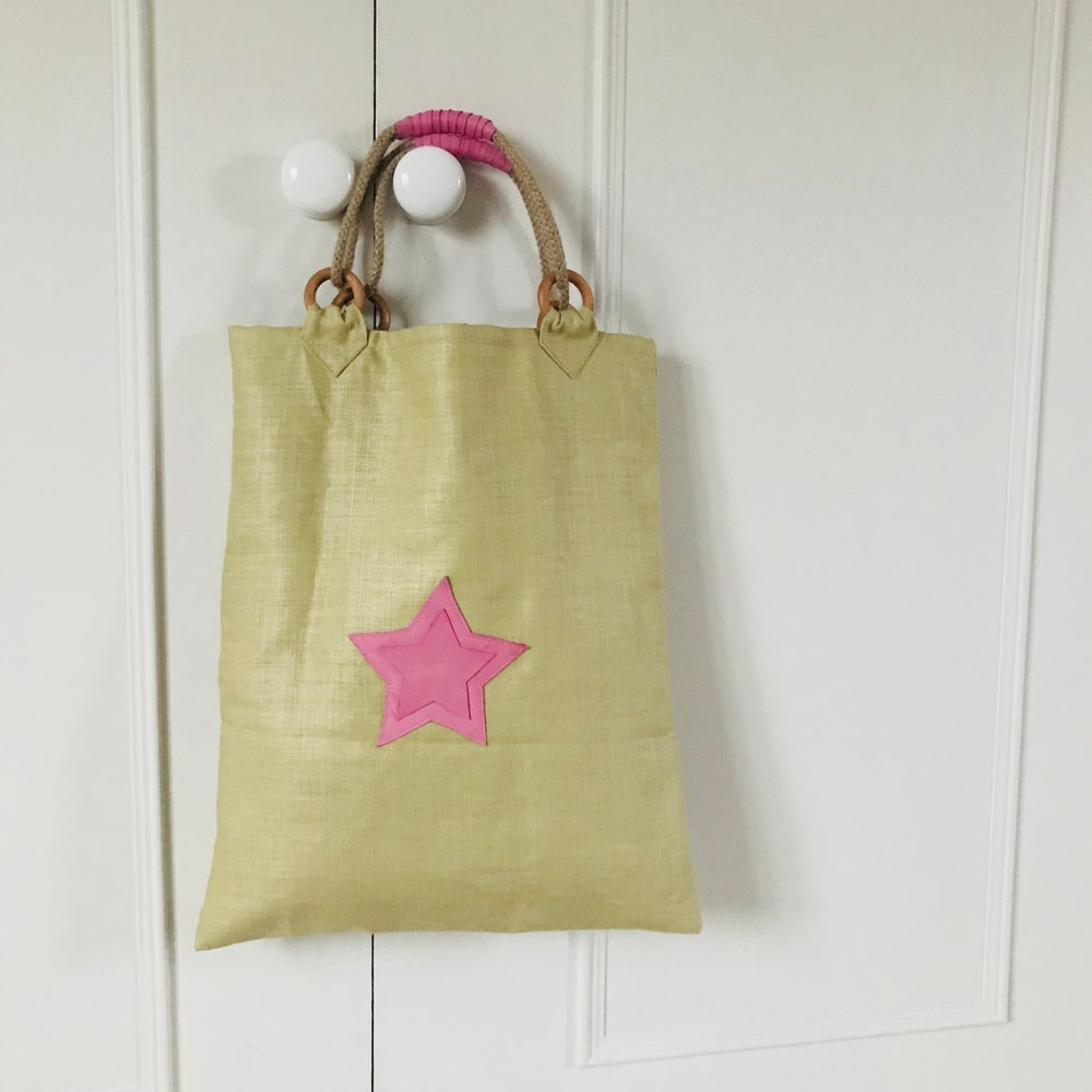 Image of 3D Star Linen Tote Bag