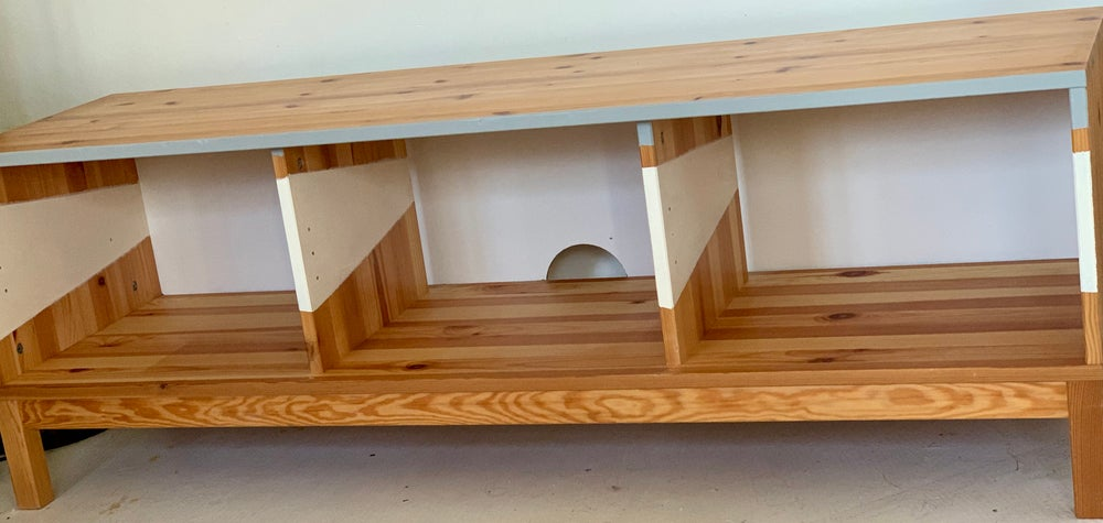 Image of Bench/tv/Xbox/toy box storage