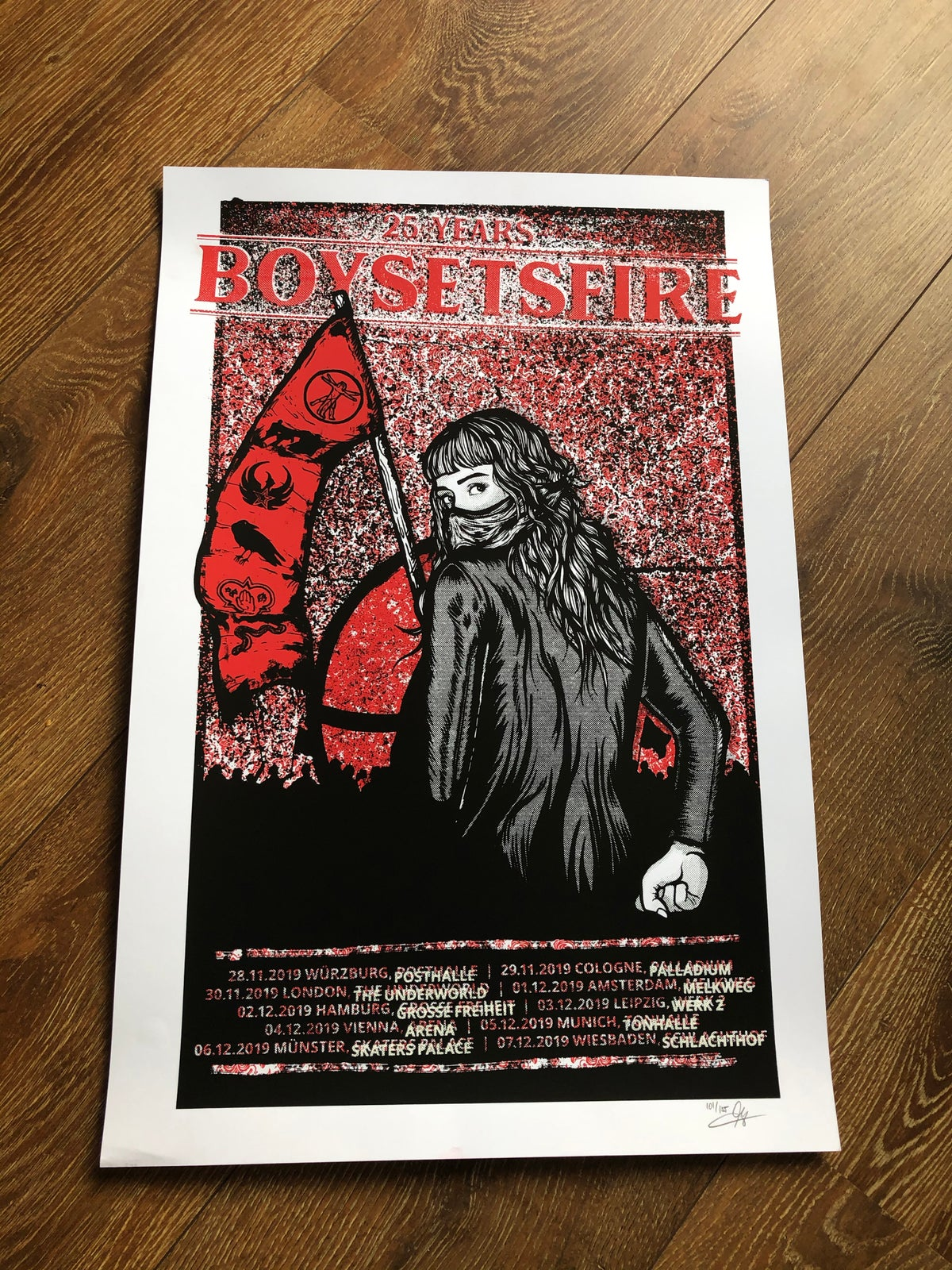 Image of Boysetsfire Tour Poster 2019