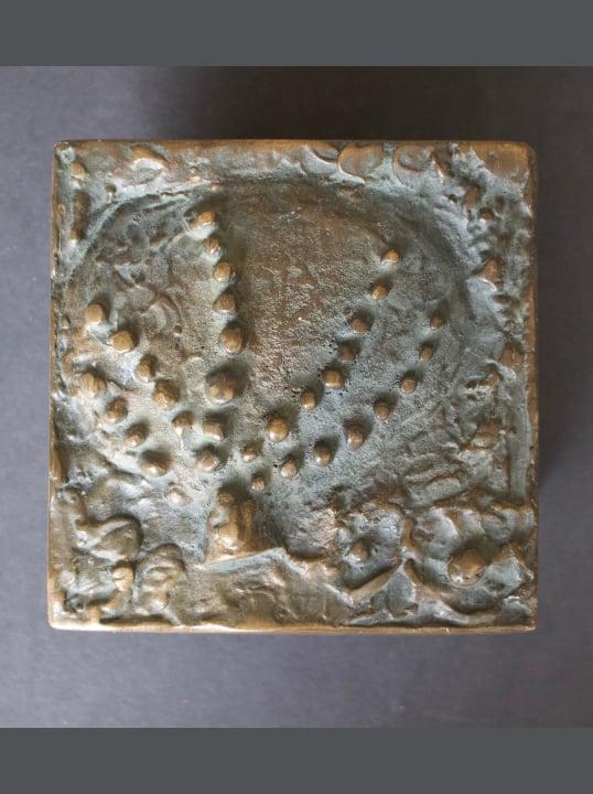 Image of Bronze Door Handle with Organic Design