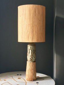 Image of Large Studio Ceramic Lamp in Natural Tones by Bernard Rooke