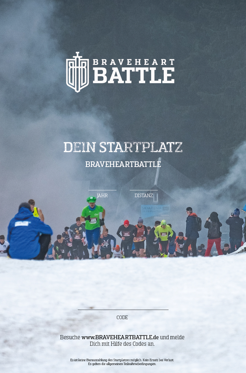 Image of Gutschein digital - BraveheartBattle 2020 ROOKIE (Ca. 10Km)