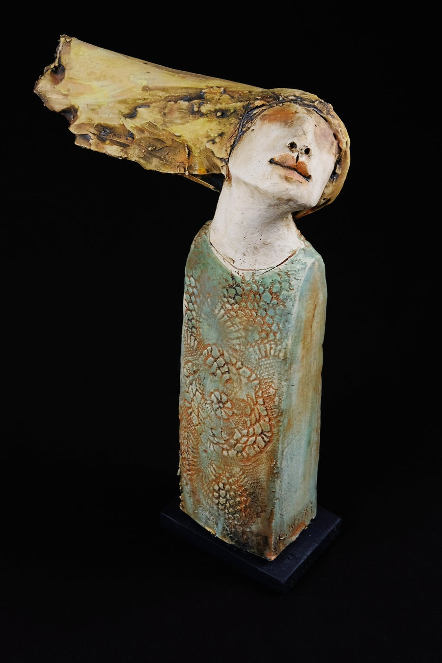 Image of CHRISTY KEENEY 'FISHERMANS ANGEL' CERAMIC SCULPTURE