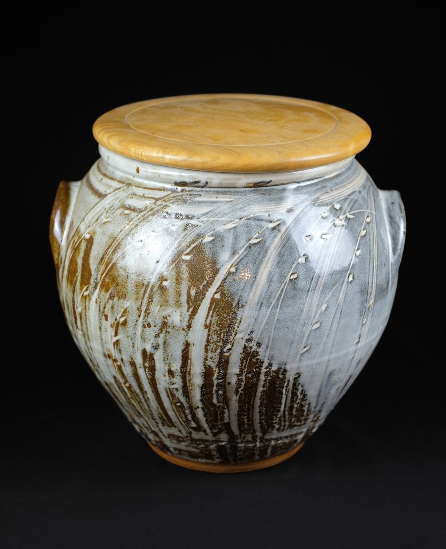 Image of MARK GRIFFITHS - CERAMIC BREAD CROCK