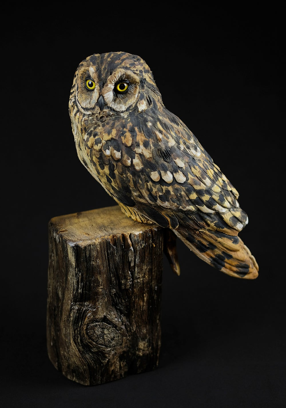 Image of KAREN FAWCETT 'OWL' CERAMIC SCULPTURE