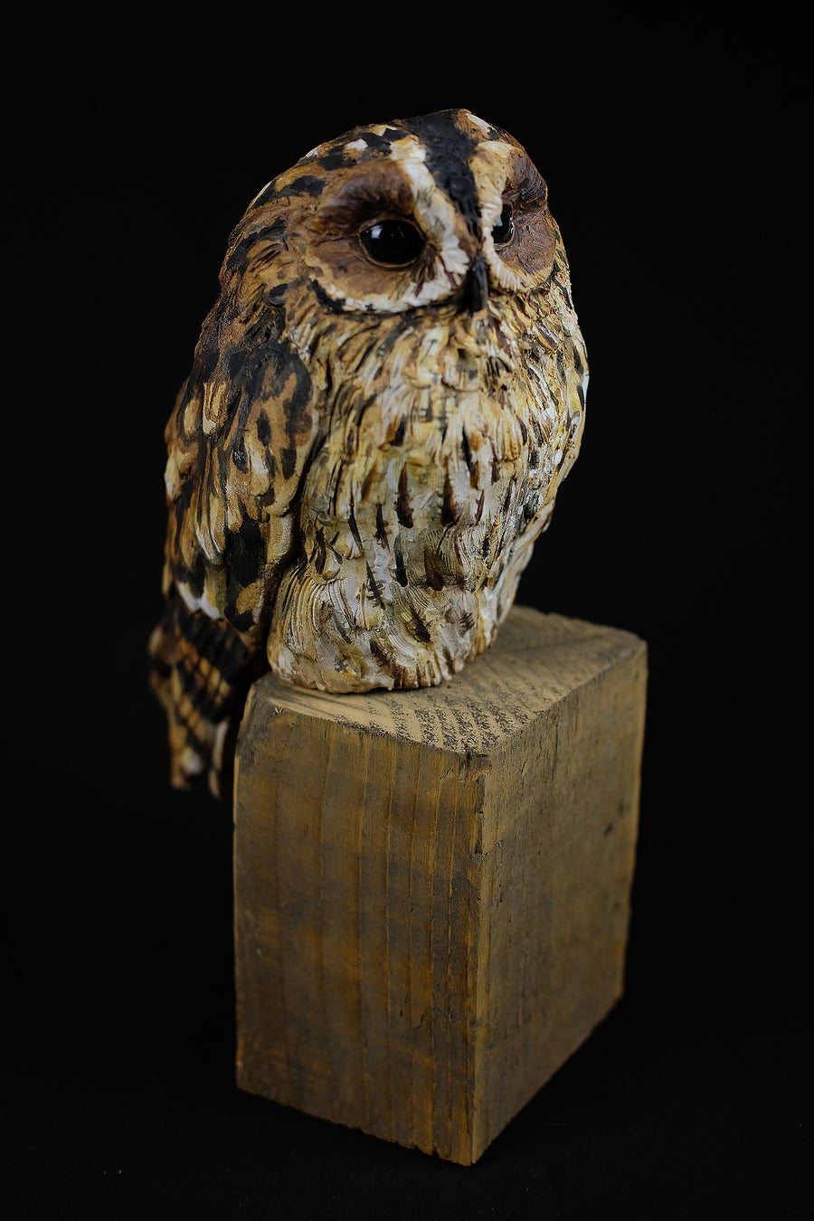 Image of KAREN FAWCETT 'TAWNY OWL' CERAMIC SCULPTURE