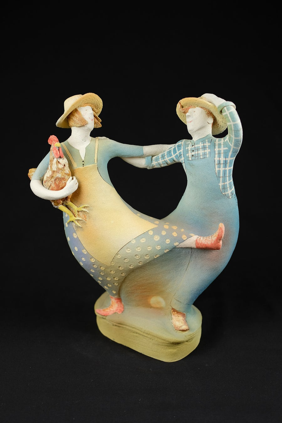 Image of JAN MAYLE 'DAY ON THE FARM' CERAMIC SCULPTURE