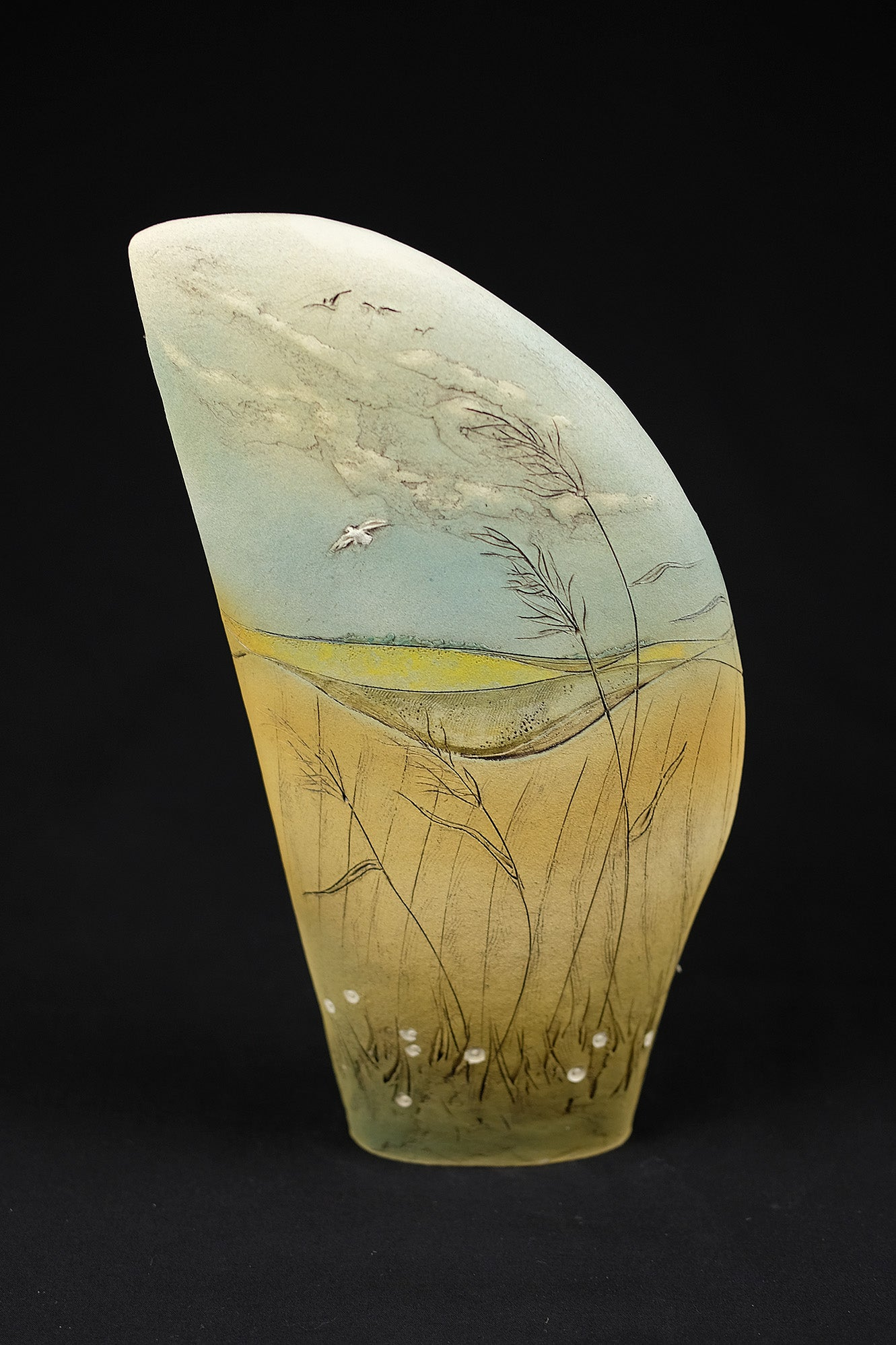 Image of JAN MAYLE 'SUFFOLK SUMMERS EVE' CERAMIC SCULPTURE