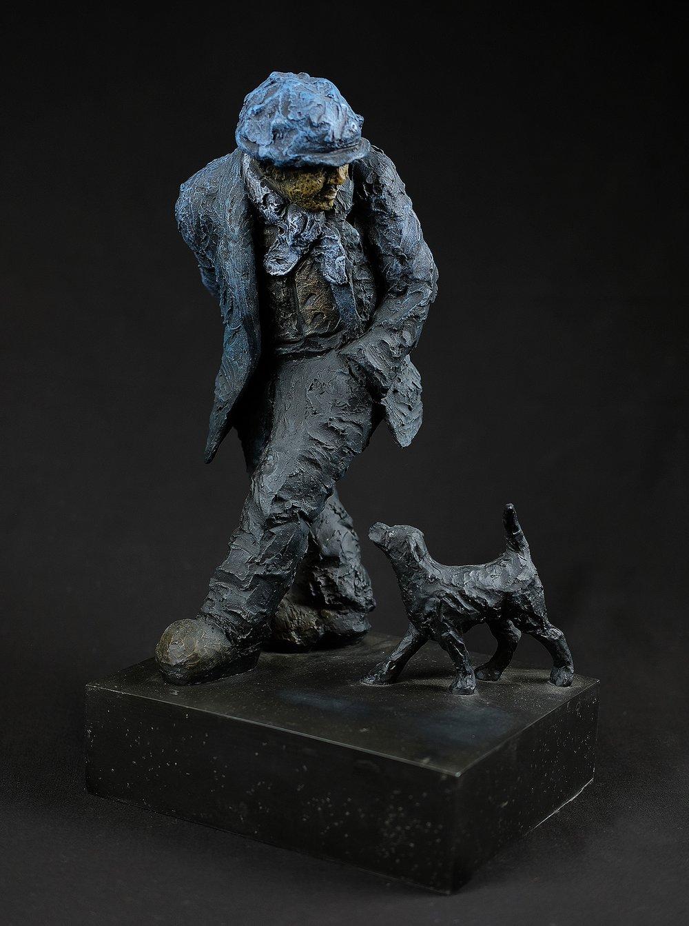 Image of ALEXANDER MILLER 'SURPRISE, SURPRISE' - MAN AND DOG LTD ED. SCULPTURE