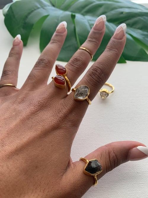 Image of HERKIMER LOVE • Herkimer diamond ring