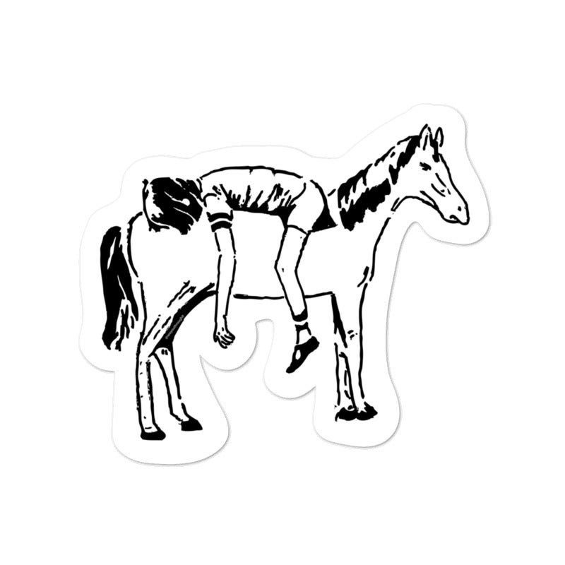Image of Horse Back Riding - Kiss Cut Sticker